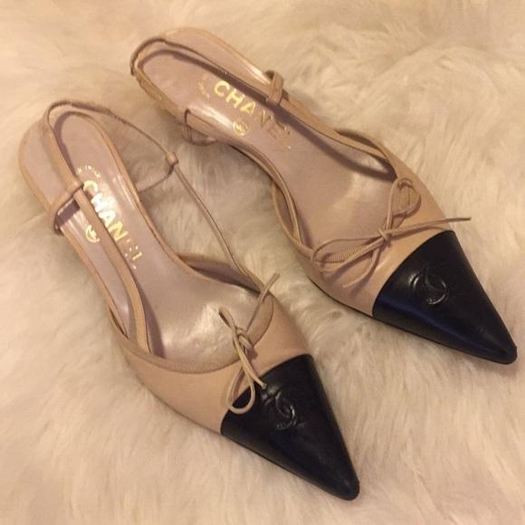 db5089c4086 CHANEL Shoes - Vintage Chanel CC Slingback Pumps